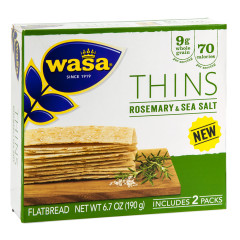 WASA ROSEMARY AND SEA SALT THINS 6.7 OZ BOX