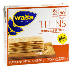 WASA SESAME AND SEA SALT THINS 6.7 OZ BOX