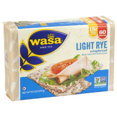 WASA LIGHT RYE CRISPBREAD 9.5 OZ