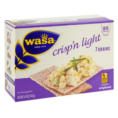 WASA CRISP'N LIGHT 7 GRAIN CRISPBREAD 4.9 OZ BOX