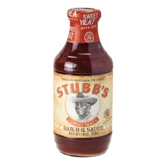 STUBB'S SWEET HEAT BBQ SAUCE 18 OZ BOTTLE
