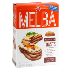 OLD LONDON WHOLE GRAIN MELBA TOASTS 5 OZ BOX