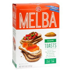OLD LONDON SESAME MELBA TOASTS 5 OZ BOX