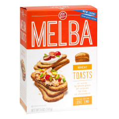 OLD LONDON WHEAT MELBA TOASTS 5 OZ BOX