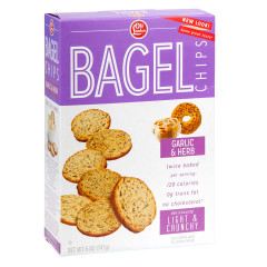 OLD LONDON GARLIC AND HERB BAGEL CHIPS 5 OZ BOX