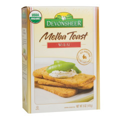 DEVONSHEER WHEAT MELBA TOAST 5 OZ BOX