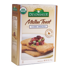 DEVONSHEER CLASSIC UNSALTED MELBA TOAST 5 OZ BOX