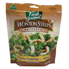 FRESH GOURMET AUTHENTIC WONTON STRIPS 3.5 OZ BAG