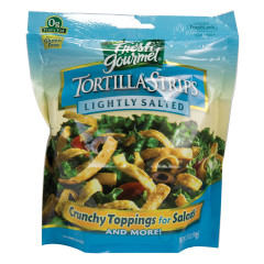 FRESH GOURMET LIGHTLY SALTED TORTILLA STRIPS 3.5 OZ BAG