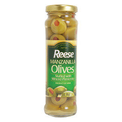 REESE MANZANILLA PIMENTO STUFFED OLIVES 3 OZ JAR