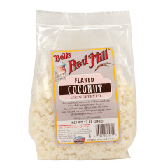 BOB'S RED MILL UNSWEETENED FLAKED COCONUT 12 OZ BAG