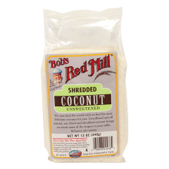BOB'S RED MILL UNSWEETENED SHREDDED COCONUT 12 OZ BAG