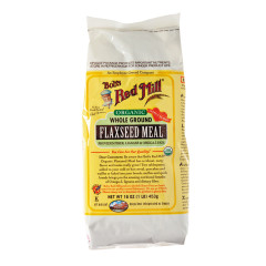 BOB'S RED MILL ORGANIC WHOLE GROUND FLAXSEED MEAL 16 OZ BAG