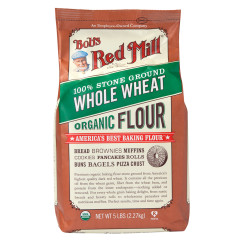 BOB'S RED MILL ORGANIC WHOLE WHEAT FLOUR 5 LB BAG