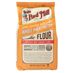 BOB'S RED MILL WHOLE WHEAT PASTRY FLOUR 5 LB BAG