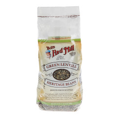 BOB'S RED MILL GREEN LENTIL BEANS 24 OZ BAG