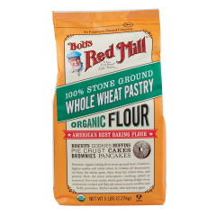BOBS RED MILL ORGANIC WHOLE WHEAT PASTRY FLOUR 5 LB BAG