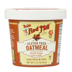 BOB'S RED MILL MAPLE & BROWN SUGAR GLUTEN FREE OATMEAL 2.15 OZ
