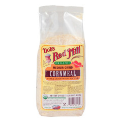 BOB'S RED MILL ORGANIC MEDIUM GRIND CORNMEAL 24 OZ BAG