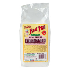 BOB'S RED MILL ORGANIC WHITE RICE FLOUR 24 OZ BAG