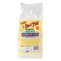 BOB'S RED MILL ORGANIC WHOLE GRAIN BROWN RICE FLOUR 24 OZ BAG