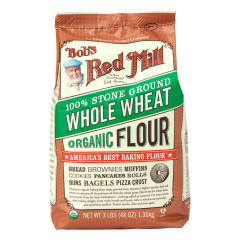 BOB'S RED MILL ORGANIC WHOLE WHEAT FLOUR 48 OZ BAG