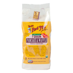 BOB'S RED MILL ORGANIC 7 GRAIN PANCAKE & WAFFLE MIX 26 OZ BAG