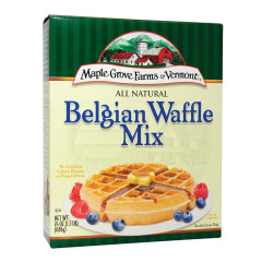 MAPLE GROVE FARMS ALL NATURAL BELGIAN WAFFLE MIX 24 OZ BOX