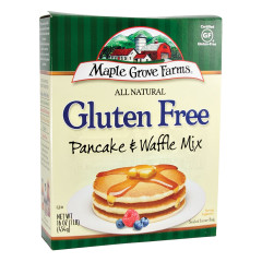 MAPLE GROVE FARMS ALL NATURAL GLUTEN FREE PANCAKE & WAFFLE MIX 16 OZ BOX