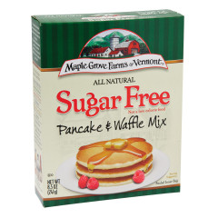 MAPLE GROVE FARMS ALL NATURAL SUGAR FREE PANCAKE AND WAFFLE MIX 8.5 OZ BOX