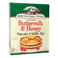 MAPLE GROVE FARMS ALL NATURAL BUTTERMILK & HONEY PANCAKE & WAFFLE MIX 24 OZ BOX