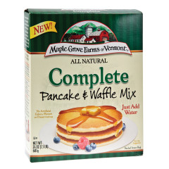 MAPLE GROVE FARMS ALL NATURAL COMPLETE PANCAKE & WAFFLE MIX 24 OZ BOX