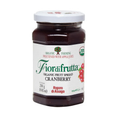 FIORDIFRUTTA ORGANIC CRANBERRY FRUIT SPREAD 8.82 OZ JAR