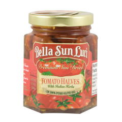 BELLA SUN LUCI SUN DRIED TOMATO HALVES IN OLIVE OIL 6.5 OZ JAR