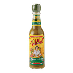 CHOLULA GREEN PEPPER HOT SAUCE 5 OZ BOTTLE
