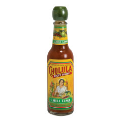 CHOLULA CHILI LIME HOT SAUCE 5 OZ BOTTLE