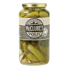 MCCLURE'S GARLIC DILL WHOLE PICKLES 32 OZ JAR