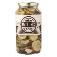 MCCLURE'S BREAD AND BUTTER PICKLES 32 OZ JAR