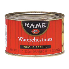 KAME WHOLE PEELED WATERCHESTNUTS 8 OZ CAN