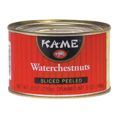 KAME SLICED PEELED WATERCHESTNUTS 8 OZ CAN