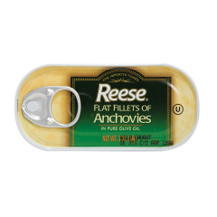 REESE FLAT FILLETS OF ANCHOVIES 2 OZ CAN