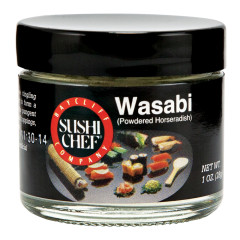 SUSHI CHEF WASABI POWDERED HORSERADISH 1 OZ JAR