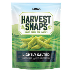 CALBEE HARVEST SNAPS LIGHTLY SALTED SNAPEA CRISPS 3.3 OZ POUCH