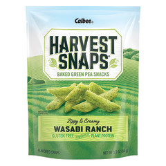 CALBEE HARVEST SNAPS WASABI RANCH SNAPEA CRISPS 3.3 OZ POUCH