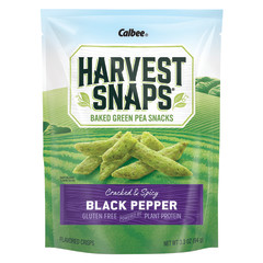 CALBEE HARVEST SNAPS BLACK PEPPER SNAPEA CRISPS 3.3 OZ POUCH