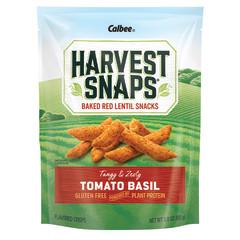 CALBEE HARVEST SNAPS TOMATO BASIL LENTIL BEAN CRISPS 3 OZ POUCH