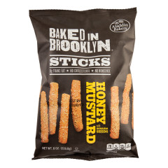 BAKED IN BROOKLYN HONEY MUSTARD STICKS 8 OZ BAG