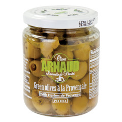 ARNAUD PITTED GREEN OLIVES 9.2 OZ JAR
