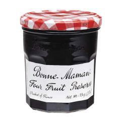 BONNE MAMAN FOUR FRUIT PRESERVES 13 OZ JAR