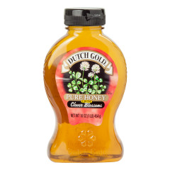 DUTCH GOLD HONEY FROM CLOVER BLOSSOMS 16 OZ BOTTLE
